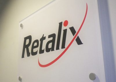 Internal Acrylic Sign with Stand Offs, Stevenage, Herts