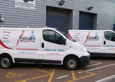 Part of Fleet Van Graphics, Ware