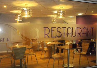 Frosted Graphics with inserts, Welwyn Garden City