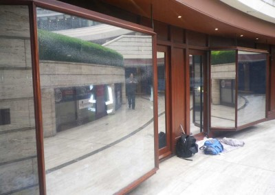 Windows with Dark Silver Reflextive Films, Liverpool St London