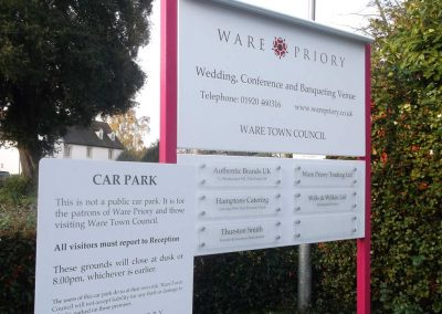 Posted Signage, Ware, Herts