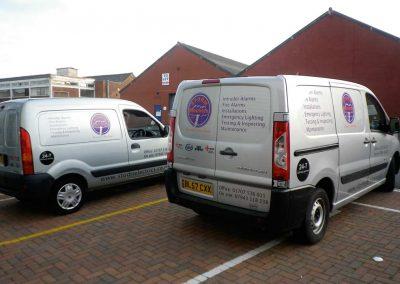 Signage Vehicle Welwyn Hertfordshire Alarms