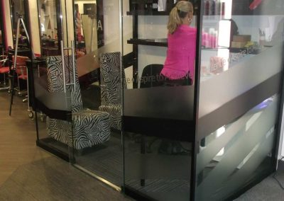 Cut Vinyls applied Glass Office, Loughton London